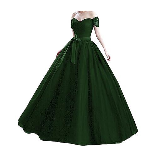 Stillluxury Tulle Off Shoulder Long Evening Gowns Weddings Plus Size Formal Dresses Women Prom EV4