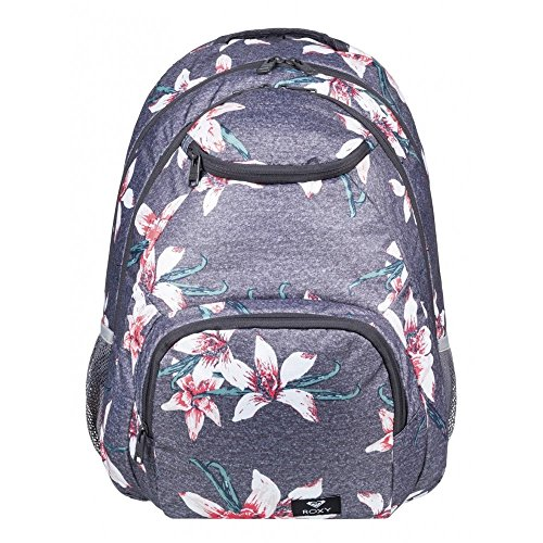 Backpack Charcoal Field Heather Women's Swell Roxy Grey Shadow Flower C0wqtzI