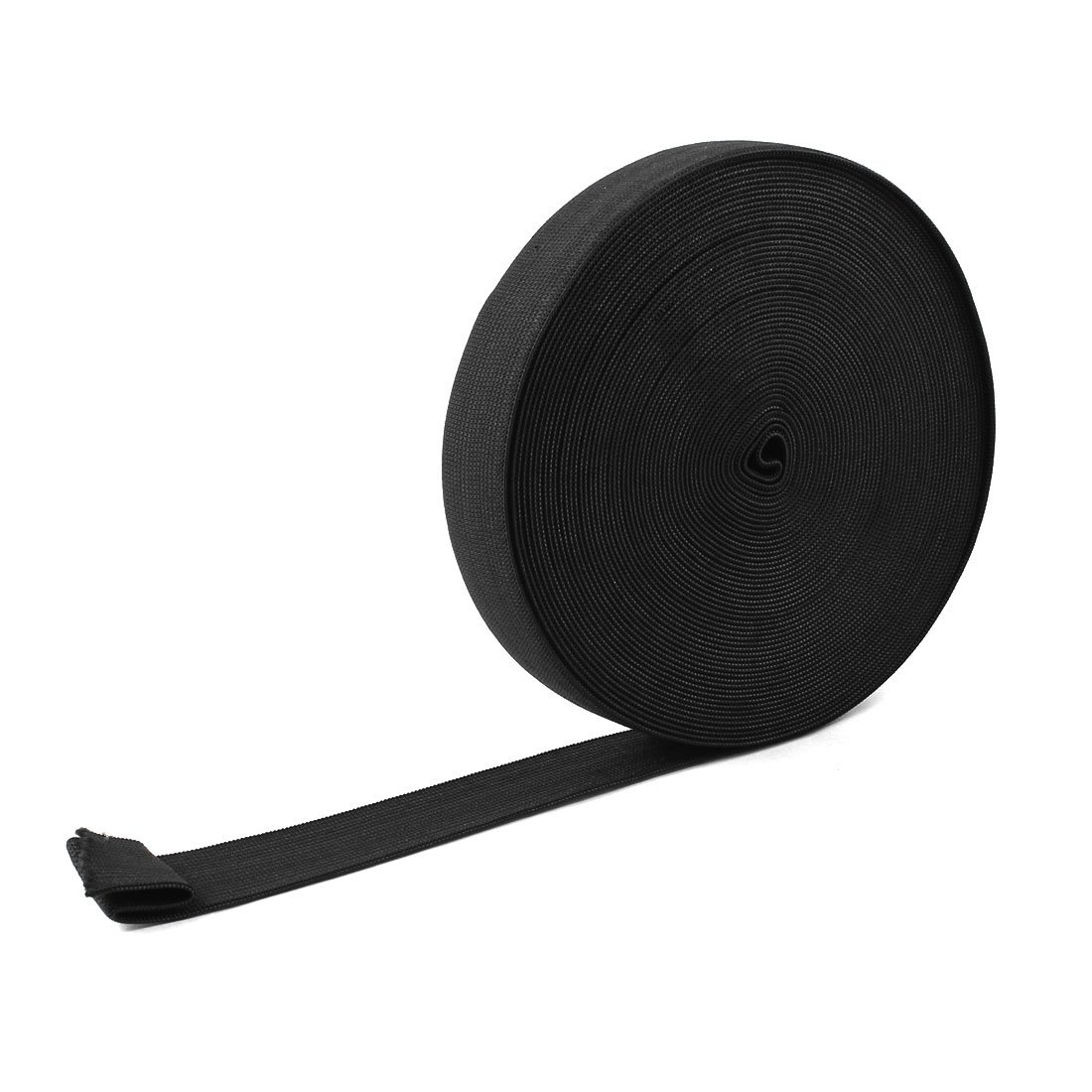 Braided Elastic Band Cord 28mm Width Black