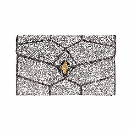 2018 nueva moda de cuero bolso de mano bolsa de mensajero de mosaico, cena,Black Blanco