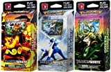 Pokemon Card Game Black & White Set of 3 Theme Decks (Blue Assault, Red Frenzy & Green Tornado)