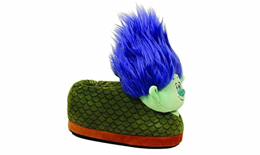 DreamWorks Trolls - Branch Slippers - X-Large - Happy Feet Mens and Womens Slippers