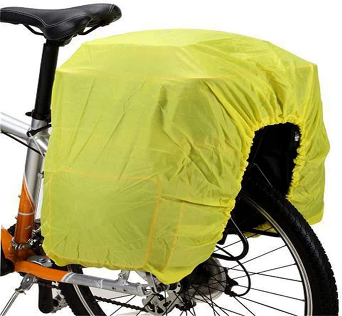 Genrics Bicycle Rain Cover Bicycle Rear Seat Carrier Bag Double Pannier Bag Bike Commuter Bag Rain Cover,Protect Your Bags Free From Rain