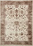 Modern Vintage Inspired Area Rugs Cream 7′ x 10′ FT Himalaya Collection Rug – rugs for living room – rugs for dining room & bedroom – Floor Carpet Review