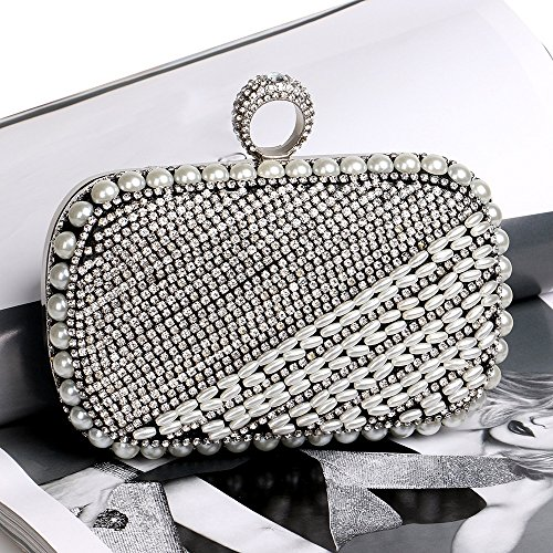 TuTu end bag evening clutch Black Classic high buckle banquet diamond ring rqrpX
