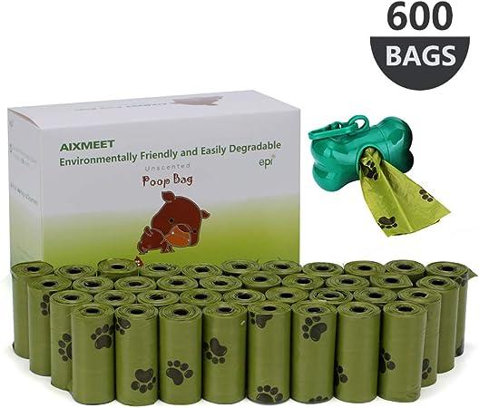 Bolsas caca perro, 600 Bolsas de Compost para Perros con ...