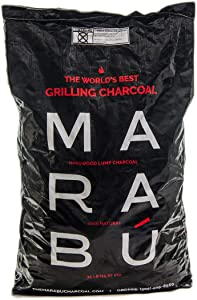 Marabu - All Natural - Premium Restaurant Grade Hardwood Lump Charcoal for Grilling - 35 Lbs Bag