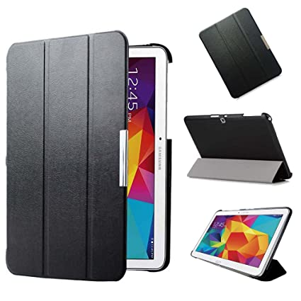 new product 1cbf6 84f21 KUESN SM-T530 T531 Smart Cover Case for Samsung Galaxy Tab 4 10.1 Tablet  Ultra Slim Flip Folio Pu Leather Stand Case with Magnetic Auto Sleep&Awake  up ...