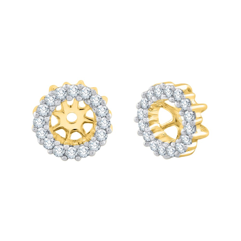 Diamond Earring Jackets in 14K Yellow Gold (1/4 cttw) (Color JK, Clarity I1-I2) by KATARINA