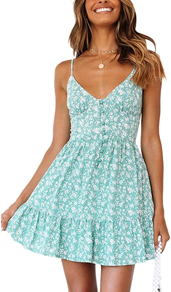 Womens Floral Strappy Mini Jumpsuit Playsuits Sleeveless Shorts Pants Rompers