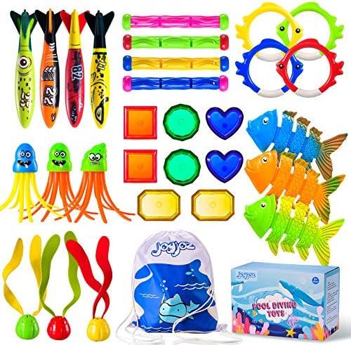 Joyjoz 30Pcs Diving Pool Toys Underwater Summer...