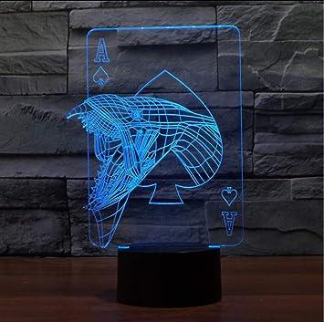 Shuyinju Monster 3D Nachtlicht Led Tischleuchte Luminaria 3D ...