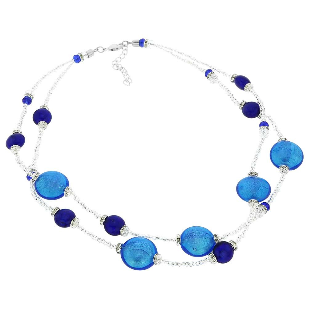 GlassOfVenice Murano Glass Adelina Necklace - Blue