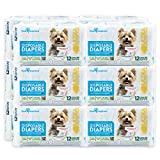 PAW INSPIRED Ultra Protection Female Disposable Dog Diapers Bulk (X-Small, 144 Count)