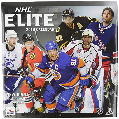 "Turner NHL All-Stars 2016 Wall Calendar, September 2015 - December 2016, 12 x 12"" (8011972)"