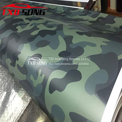 Amazon.com: Snow Camo Vinyl Film Camouflage Vinyl Wrapping ...