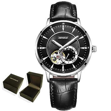 CWYPB Reloj mecánico para Hombre, Reloj analógico Simple y ...