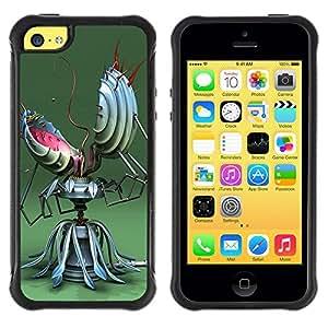 "Hypernova Defender Series TPU protection Cas Case Coque pour Apple iPhone 5C [Divertido robot Resumen""]"
