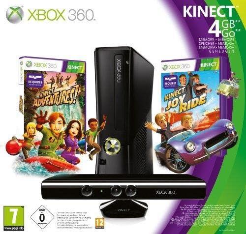 Microsoft Xbox 360 4GB Console with Kinect - juegos de PC (Xbox 360, DVD, 4 GB, 802.11b, 802.11g, 802.11n, 135W, Negro): Amazon.es: Videojuegos