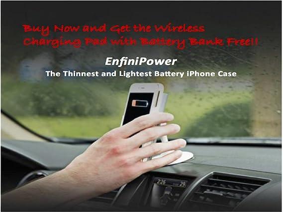 Amazon.com: Batería Smart Funda para iPhone 5, 5S y se, Rojo ...