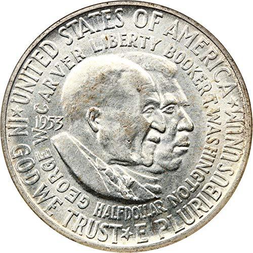 1953 D Silver Commemoratives Washington-Carver Half Dollar MS64 NGC ()
