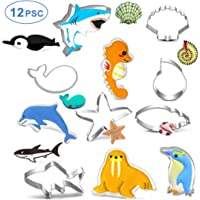 Cookie Cutter Set for Kids Under the Sea Creatures Cookie Cutters Shark Seastar Whale Conch Dolphin