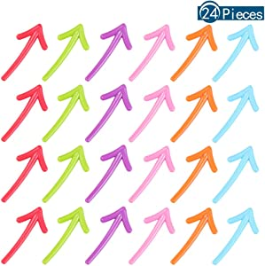 Uspeedy- 24 Pcs Arrow Shaped Decorative Refrigerator Magnets Fridge Magnets Whiteboard Magnets Office Magnets for Home or Classroom