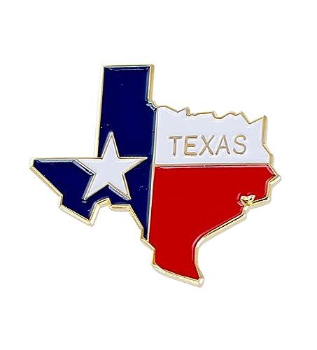 Forma de Estado de Texas y Texas bandera Pin de solapa: Amazon.es ...