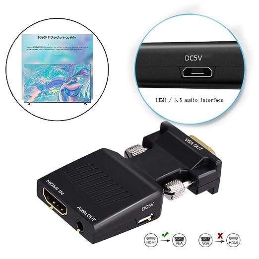 GWWDNB-XXB Colorido Adaptador convertidor HDMI VGA, convertidor HD ...