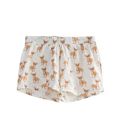 559d7d68f6 Fashion Culture Women s Chihuahua Dog Print Pajama Lounge Shorts ...