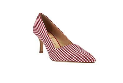 bac4d879369 Sole Society Women s Angelica Printed Pointed Toe Pumps-Red Gingham-10