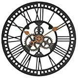 24 in. Round Roman Gear Wall Clock