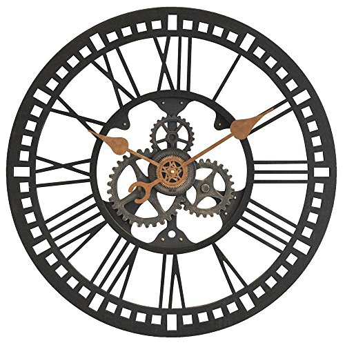 24 in. Round Roman Gear Wall Clock by FirsTime