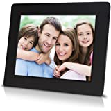 7 inch Digital Photo Frame with High Resolution LCD Screen, Built-in Slideshow Function, Super Easy to Set-up (Black)