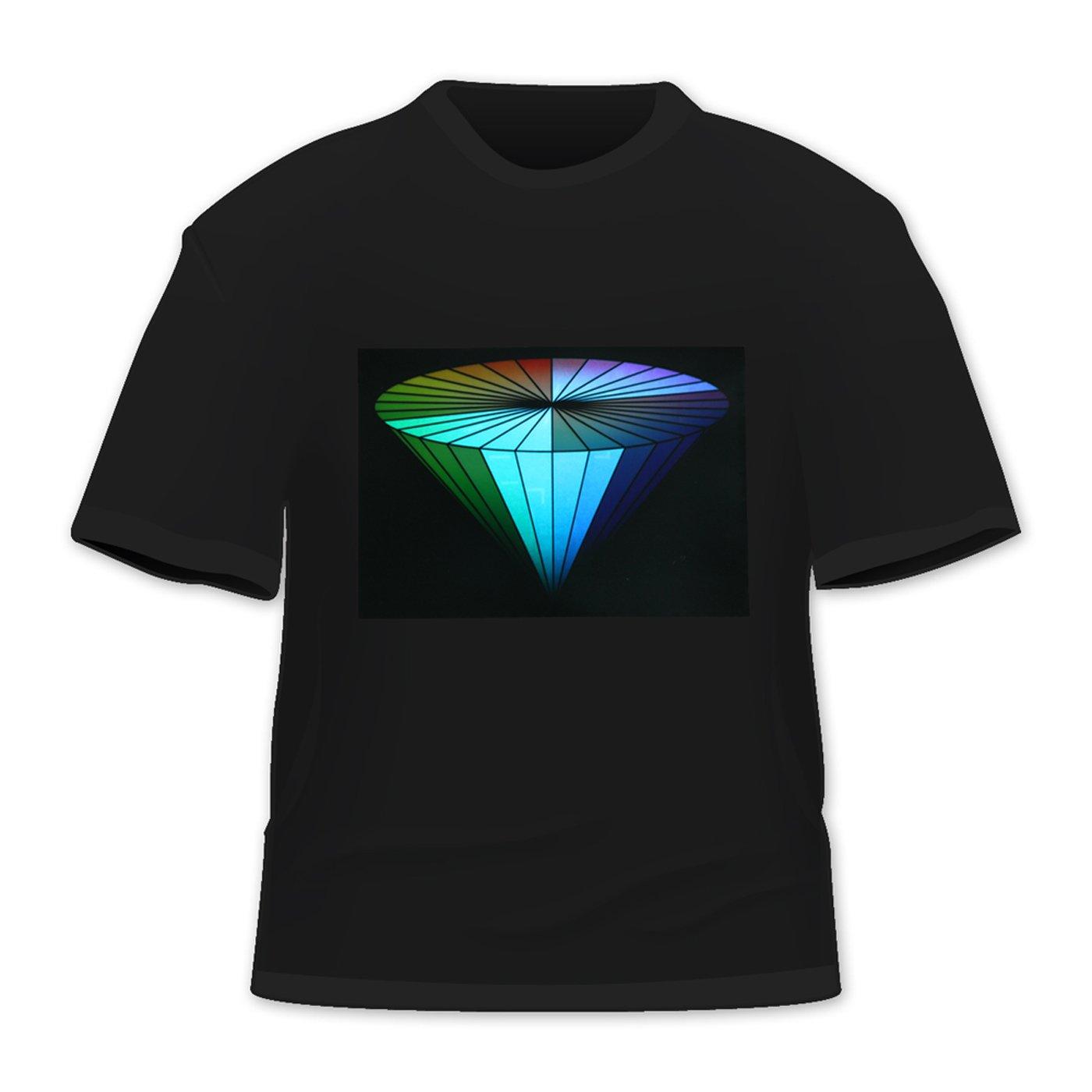 Hde T-Shirt avec /éclairage LED activ/é en fonction des sons