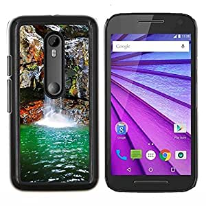 For Motorola MOTO G3 / Moto G (3nd Generation) Case , Cascada de primavera- Diseño Patrón Teléfono Caso Cubierta Case Bumper Duro Protección Case Cover Funda