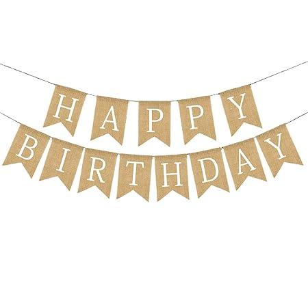 Huaheng Guirnalda Pancarta Feliz Cumpleaños Arpillera ...