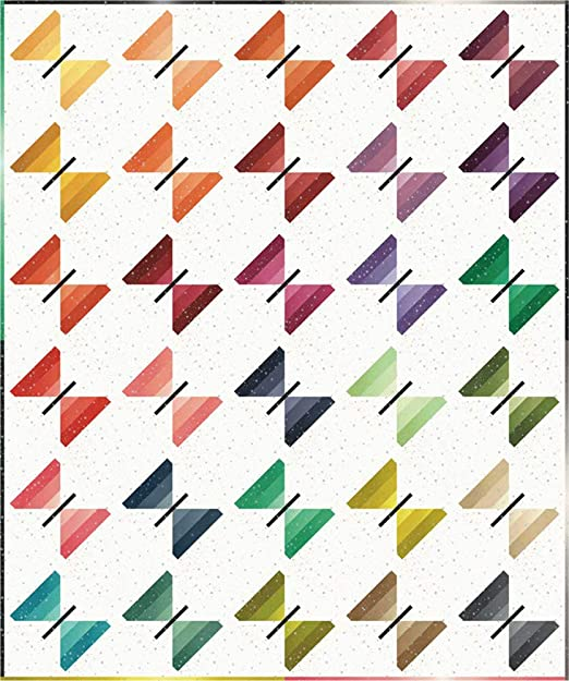 In Stock and Ships Today Ombre Bloom Quilt Kit Featuring Ombre Fabrics by V and Co for Moda