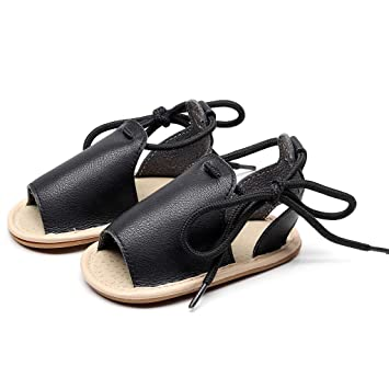 09ebf8339 Newest Summer Sandals For Infant Baby Girls Boy Leather Bandage Open Toe  Beach Sandals Casual Flat