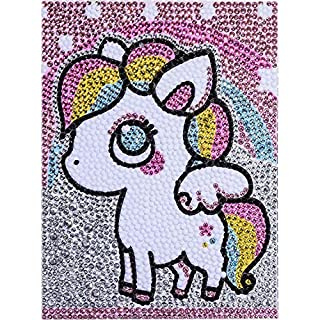 FIGHTA 5D Diamond Painting Kits for Kids Full Drill Painting by Number Kits for Children Rhinestone Diamond Embroidery Home Wall Decor (Pony)