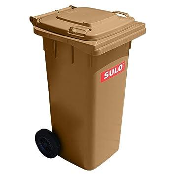 Mülltonne Müllbehälter 120 L Braun Amazonde Küche Haushalt