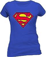 DC Women's Superman Logo Crew Neck Short Sleeve T-Shirt