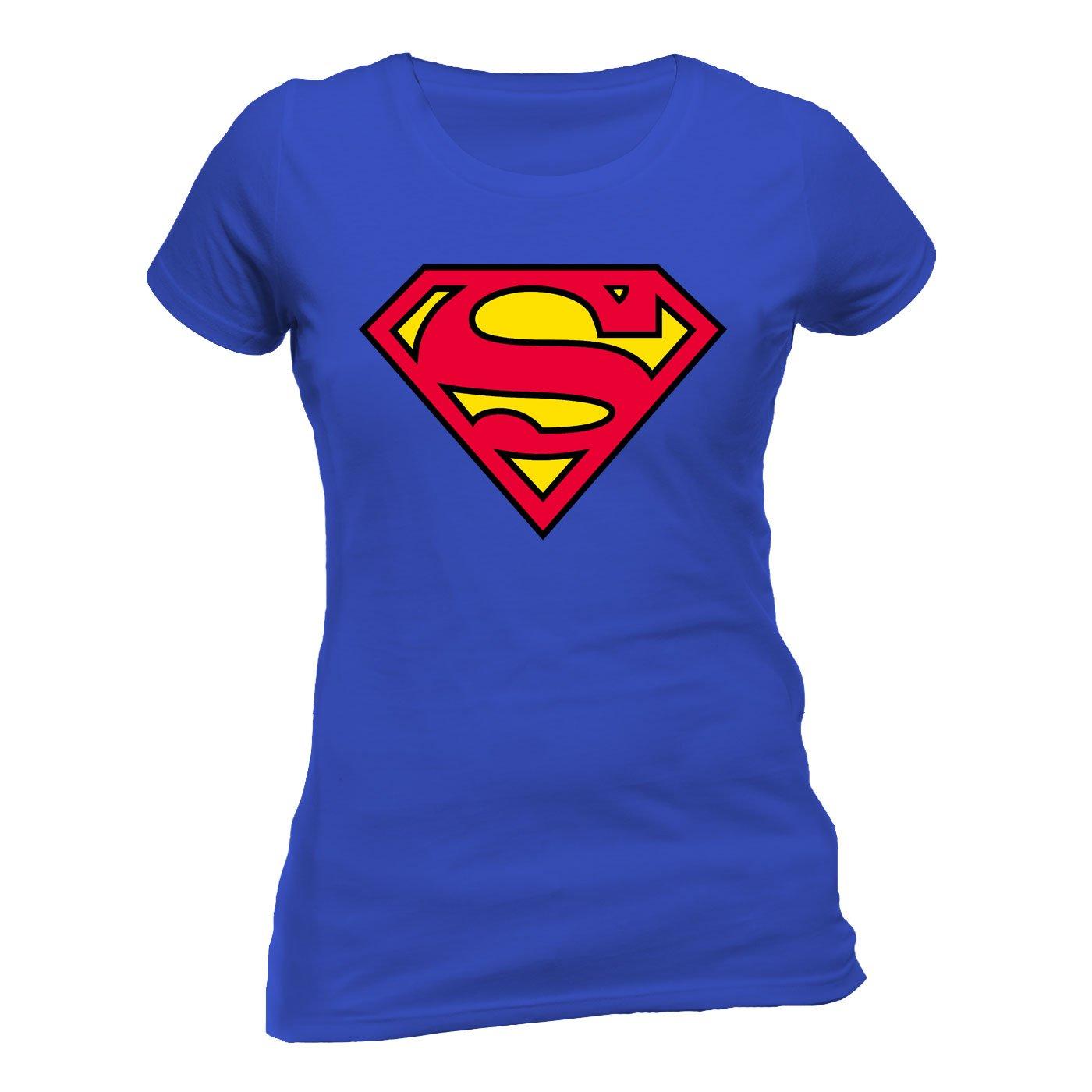 DC Comics Women's Superman Logo T-Shirt Absolute Cult