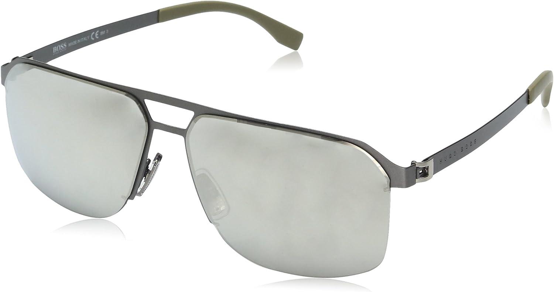 Hugo Boss Boss 0839/S M3 R80 gafas de sol, Gris (Smtt Dkruthe/Grey Silver Grey Speckled), 61 Unisex-Adulto