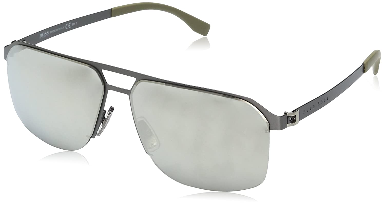 BOSS Hugo 0839/S M3 R80 gafas de sol, Gris (Smtt Dkruthe Silver Grey Speckled), 61 Unisex-Adulto