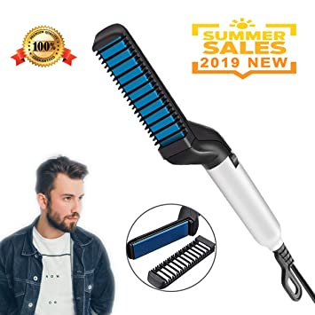 690a483865c18 ASRUIO Electric Hair Comb For Men Hair Straightener Brush Quick Beard  Straightener Styler Comb Quick Beard