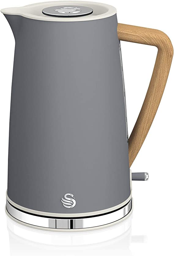 Swan 2200 W 1.7 L Blanc Électrique Sans Fil Jug Kettle Rapide Rapide Eau bouillir