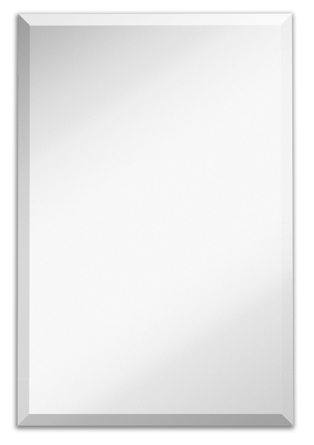 Amazon Large Simple Rectangular Streamlined 1 Inch Beveled Wall Mirror