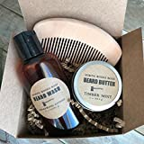 Mens Beard Gift Set Beard Comb Beard Oil Beard Wash For Him
