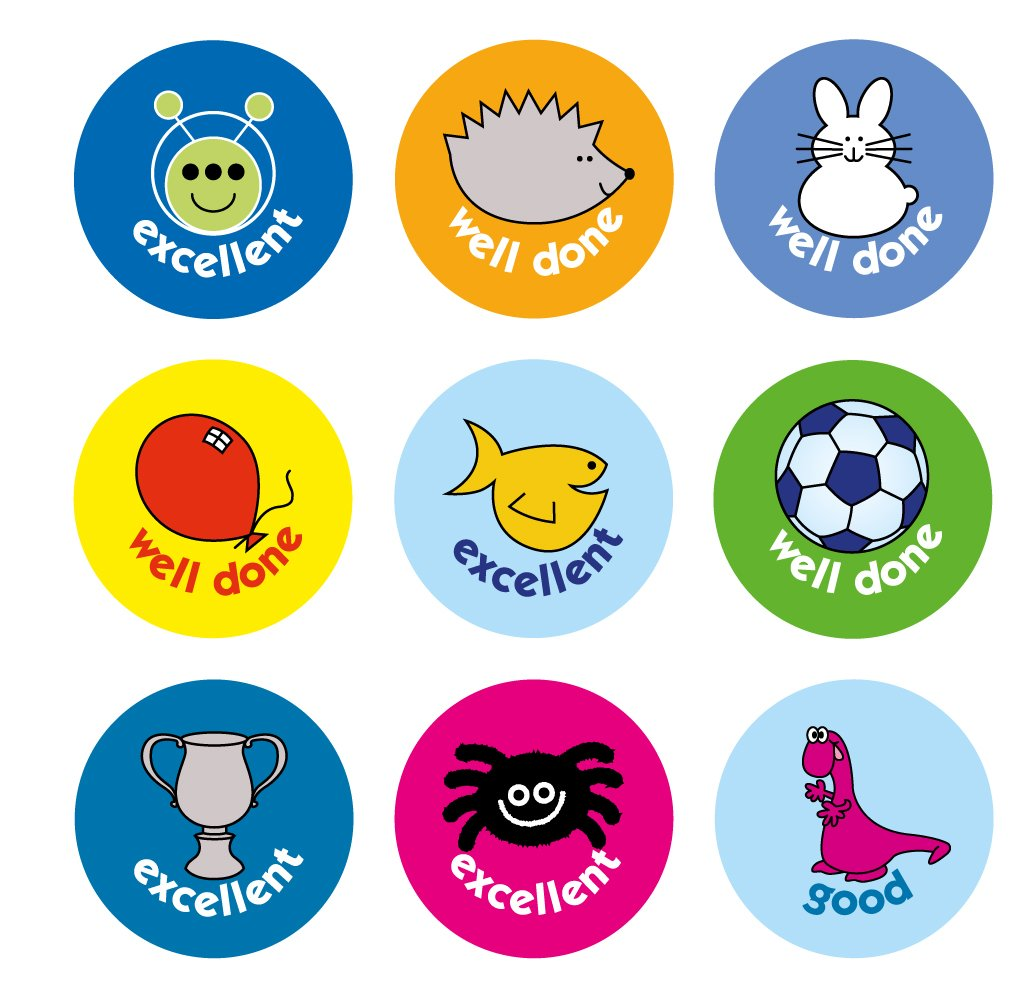 The sticker factory 10 mm mini caption compilation reward sticker pack of 750 stickers amazon co uk office products